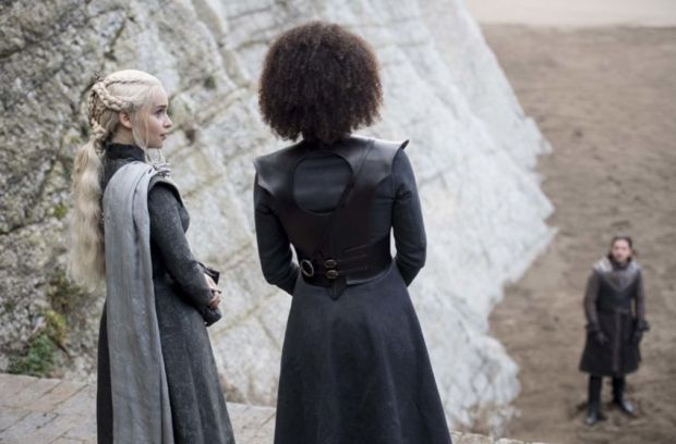Jon Snow, Dany and Missandei in Game of Thrones Season 7 Episode 4