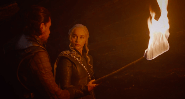 Jon Snow is smitten by Daenerys