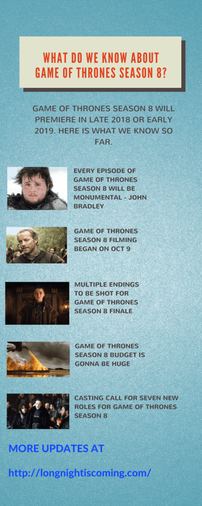 game of thrones season 8 facts