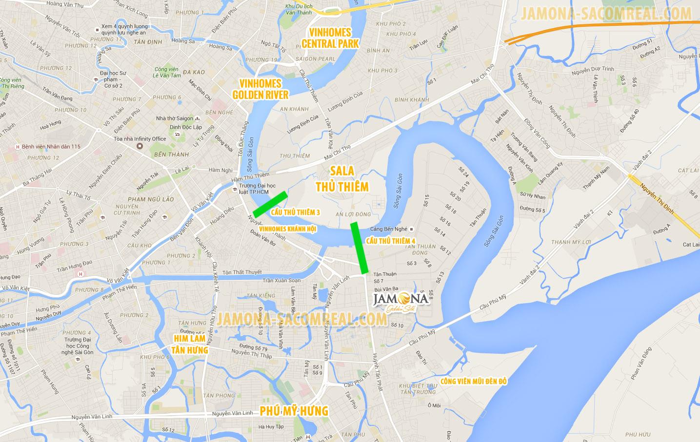 Jamona Heights (thuộc Jamona Golden Silk) là dự án có lợi thế tuyệt đối về vị trí giao thông.