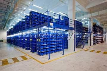 Hệ thống lưu trữ sàn tầng lửng làm từ giá kệ để hàng 2020