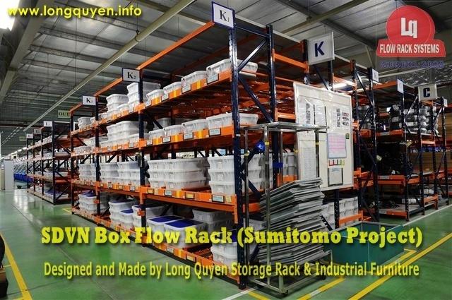 giá kệ trôi box flow rack 1e