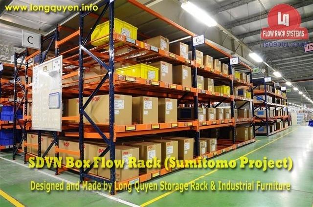 giá kệ trôi box flow rack 1f