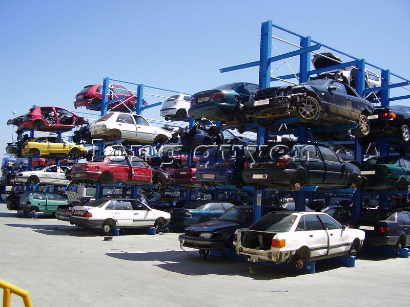 Giá kệ Cantilever lưu trữ ô tô cũ trong các kho bãi (2)