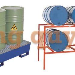 Pallet sắt pallet kim loại lưu trữ thùng hộp kệ để thùng phuy