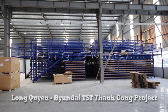 Giá Kệ Kho Phụ Tùng Sàn Tầng Lửng Công ty Hyundai TST Thành Công (10)
