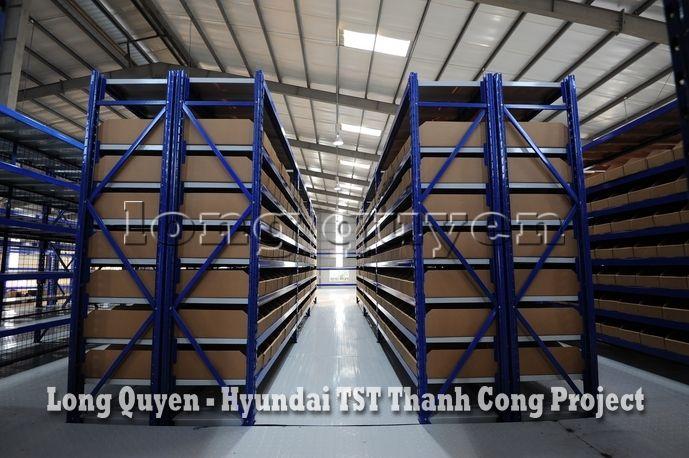 Giá Kệ Kho Phụ Tùng Sàn Tầng Lửng Công ty Hyundai TST Thành Công (7)