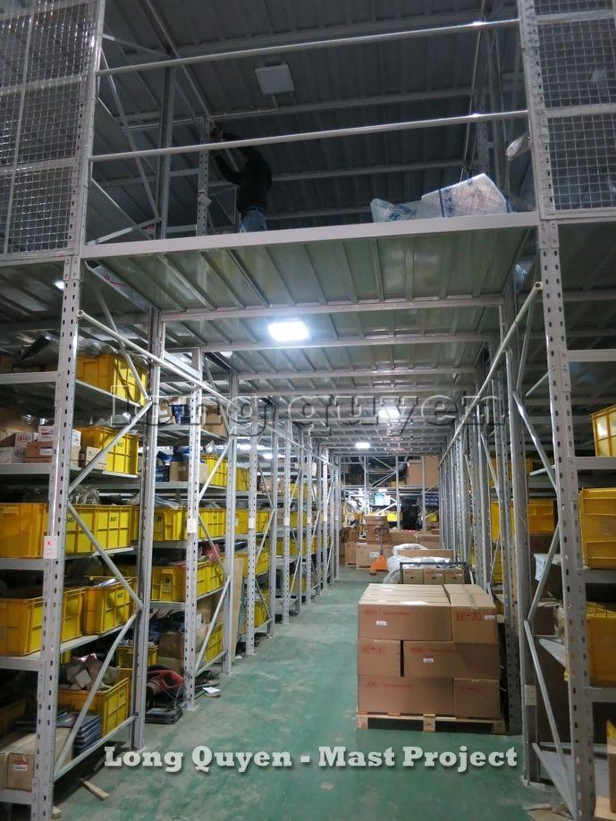 Giá Kệ Vật Tư Kho Tầng Lửng Công ty MAST 3