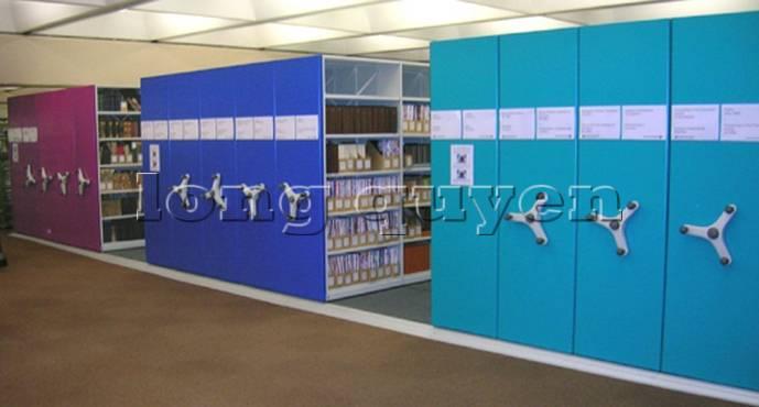 Giá kệ thư viện di động gia kệ chạy trên ray (9)