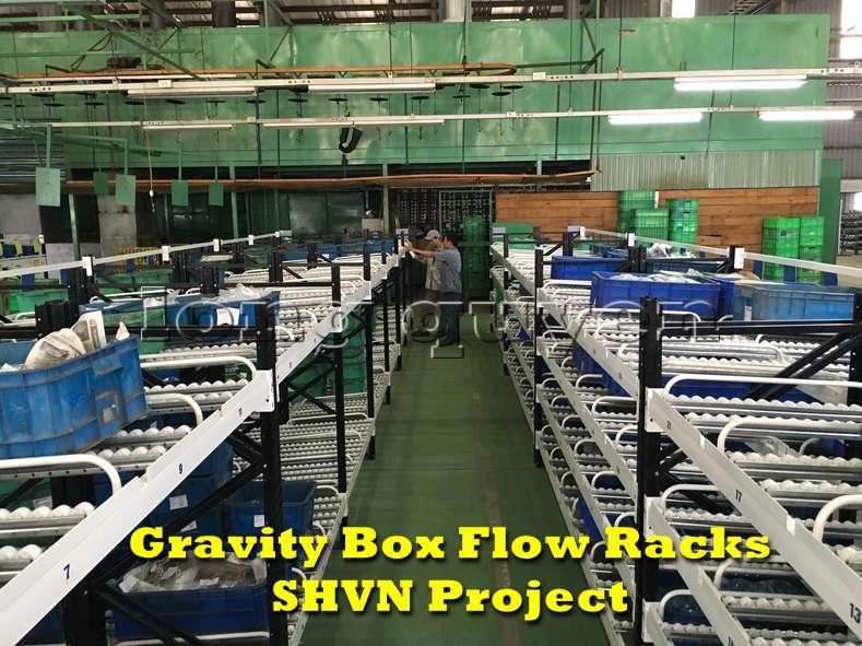 Giá kệ lưu trữ dòng chảy trong lắp ráp công nghiệp tại công ty SHVN (1)