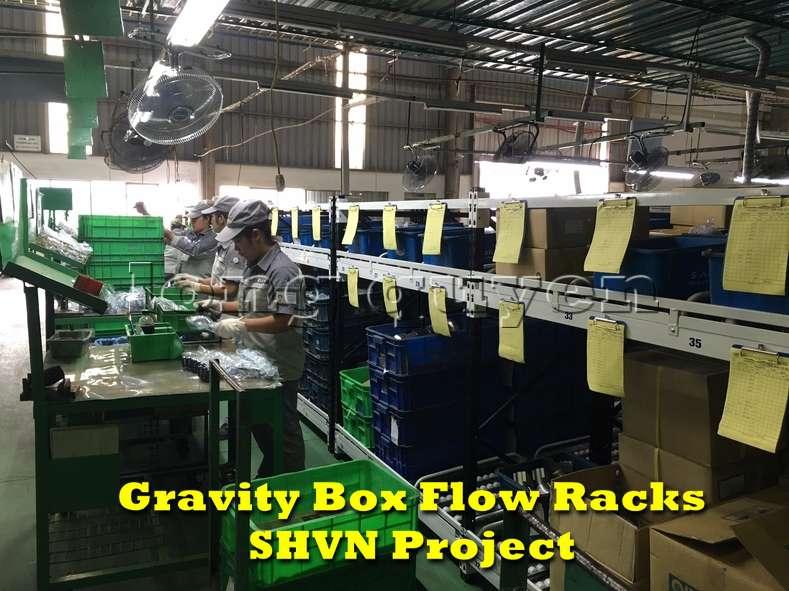 Giá kệ lưu trữ dòng chảy trong lắp ráp công nghiệp tại công ty SHVN (10)
