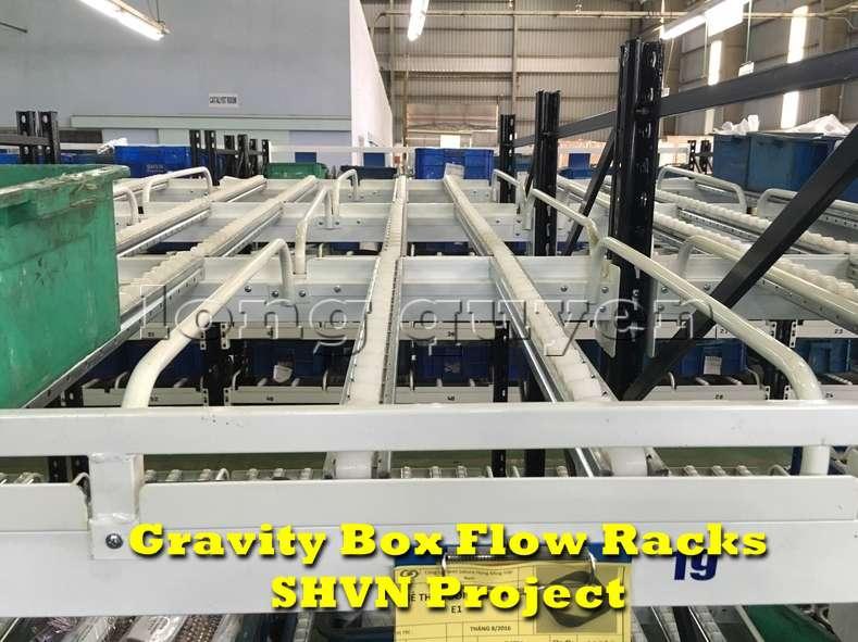 Giá kệ lưu trữ dòng chảy trong lắp ráp công nghiệp tại công ty SHVN (3)