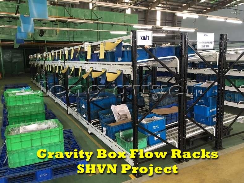 Giá kệ lưu trữ dòng chảy trong lắp ráp công nghiệp tại công ty SHVN (8)