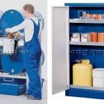 Thiết bị lưu trữ ngành hóa chất giá kệ tủ xe đẩy thùng chứa chất nguy hại