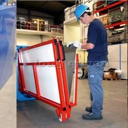 Giá kệ di động để thép tấm trong kho hàng vật liệu gia công cơ khí
