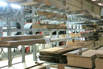 Giá kệ tay đỡ Cantilever tại dây chuyền sản xuất nội thất nhà máy NFJ 9