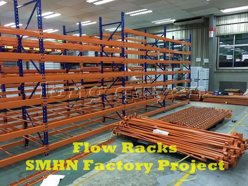 Giá kệ trôi kệ dòng chảy để vật tư trong xưởng lắp ráp nhà máy SMHN (2)