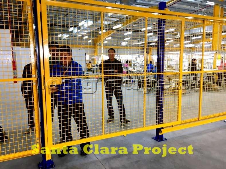 Vách ngăn lưới tháo lắp di động trong nhà máy kho hàng (10)
