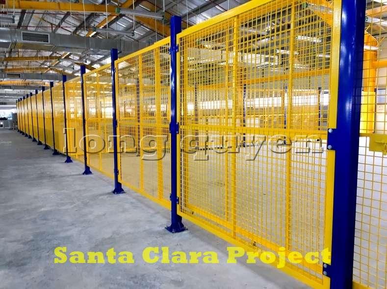 Vách ngăn lưới tháo lắp di động trong nhà máy kho hàng (11)