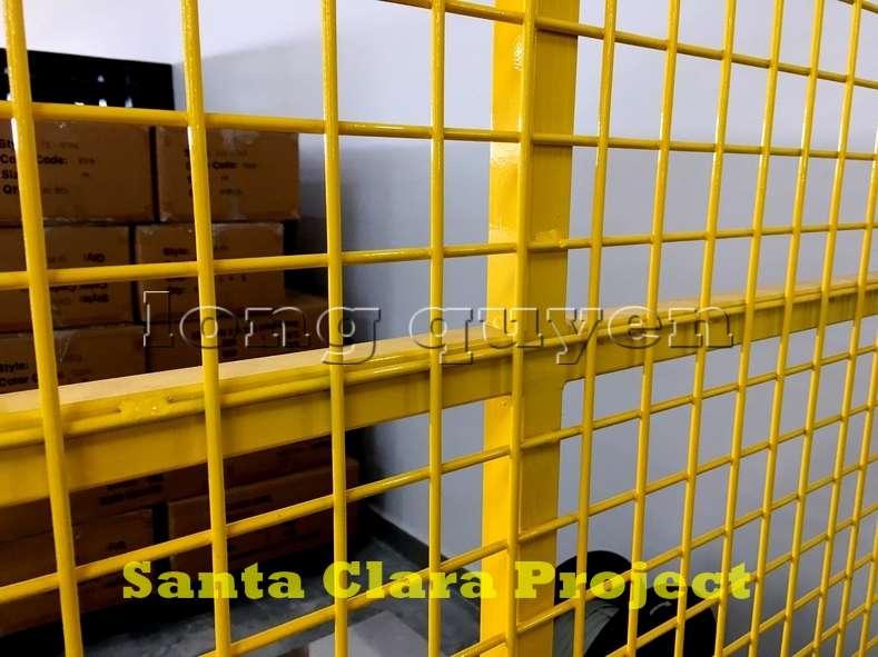 Vách ngăn lưới tháo lắp di động trong nhà máy kho hàng (5)
