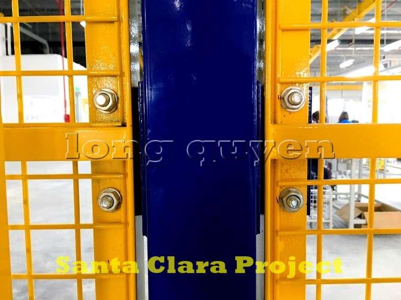 Vách ngăn lưới tháo lắp di động trong nhà máy kho hàng (7)