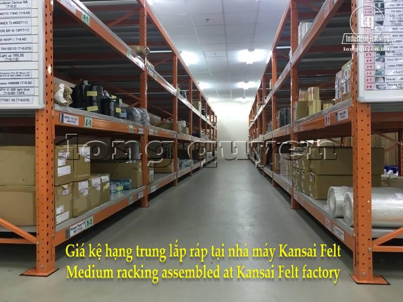Giá kệ trung tải giá kệ hạng trung lắp ráp tại nhà máy Kansai Felt (1)
