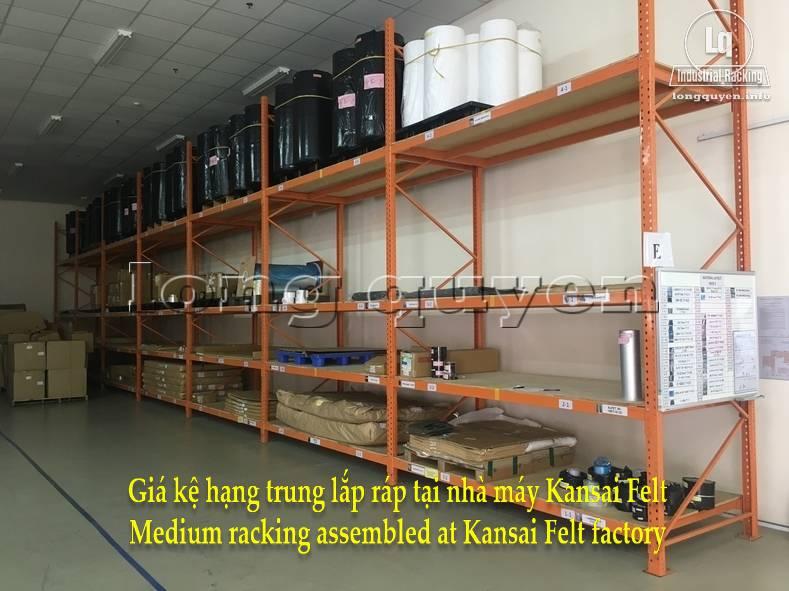 Giá kệ trung tải giá kệ hạng trung lắp ráp tại nhà máy Kansai Felt (6)