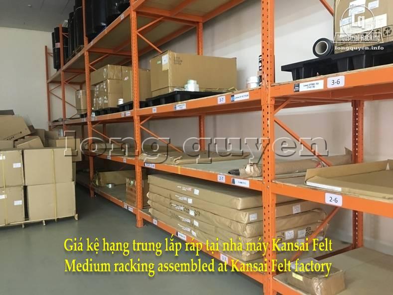 Giá kệ trung tải giá kệ hạng trung lắp ráp tại nhà máy Kansai Felt (8)