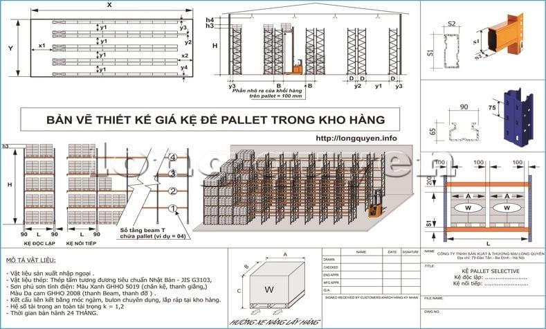 Hướng dẫn các bước tự thiết kế giá kệ chứa pallet trong kho hàng (13)