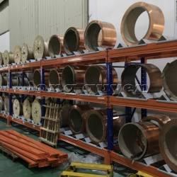 Kệ sắt kệ để hàng kệ kho hàng lắp đặt tại nhà máy thiết bị điện Sanaky