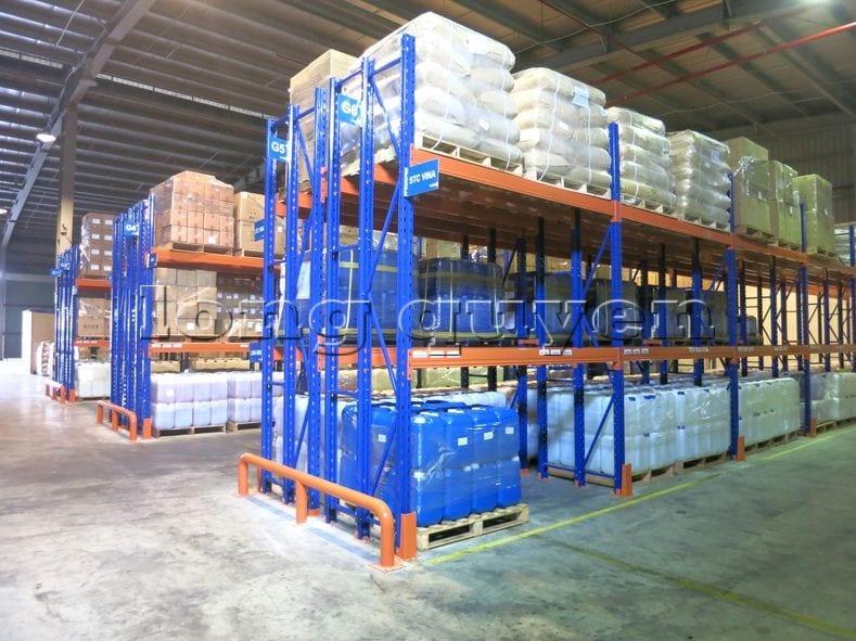 Kệ sắt kệ chứa pallet lưu trữ loại 3 thanh beam một tầng kho hàng công ty ALS (3)