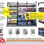 Kệ sắt sàn nghiêng kệ sắt trưng bày và lưu trữ đa dụng 2018-KSN0308