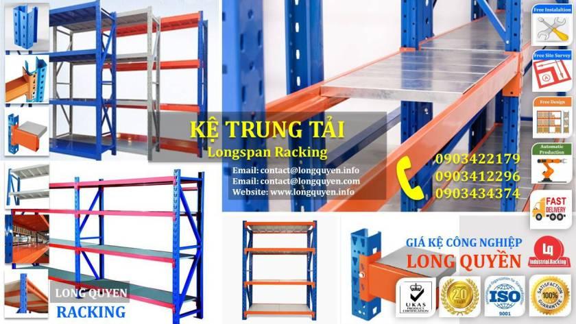 Giá kệ trung tải kệ hạng trung chia ngăn kho hàng công ty Thìn Oai (6)