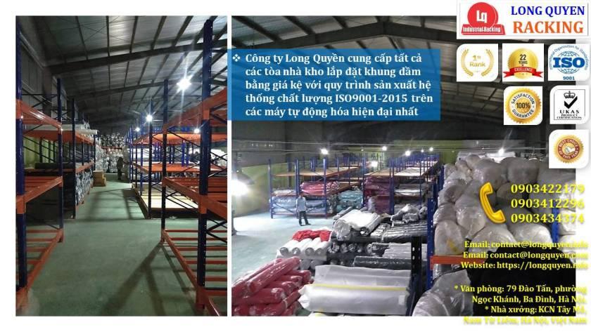 iá kệ chứa vải cuộn kệ kho để vải công ty May Hưng Hà (6)