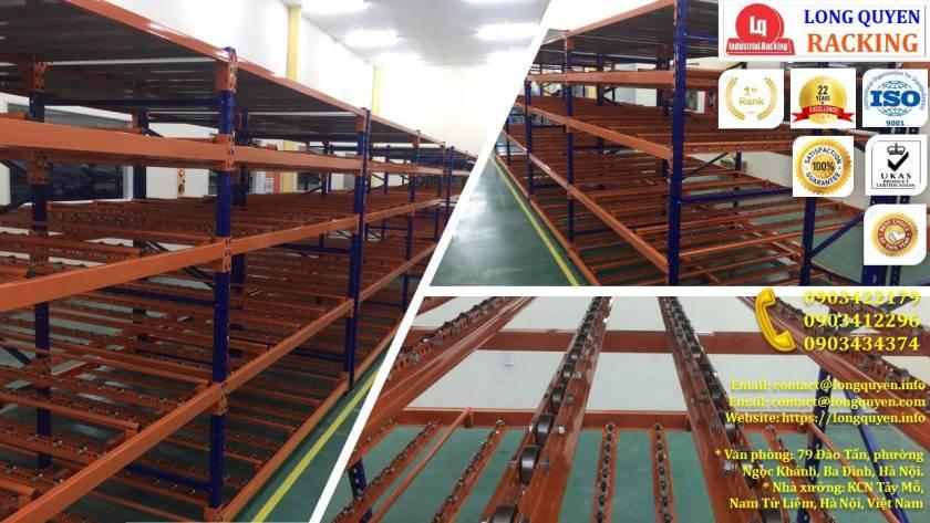 Giá kệ con lăn dòng chảy giá kệ trôi lắp đặt tại công ty Sumi Việt Nhật (10)