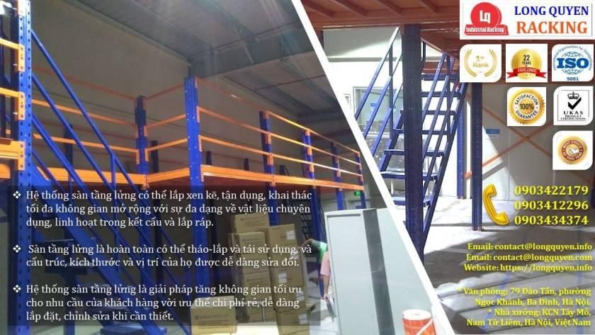 Kệ sàn kho sàn tầng lửng mezzanine san kho lắp ráp công ty Vina TC (6)