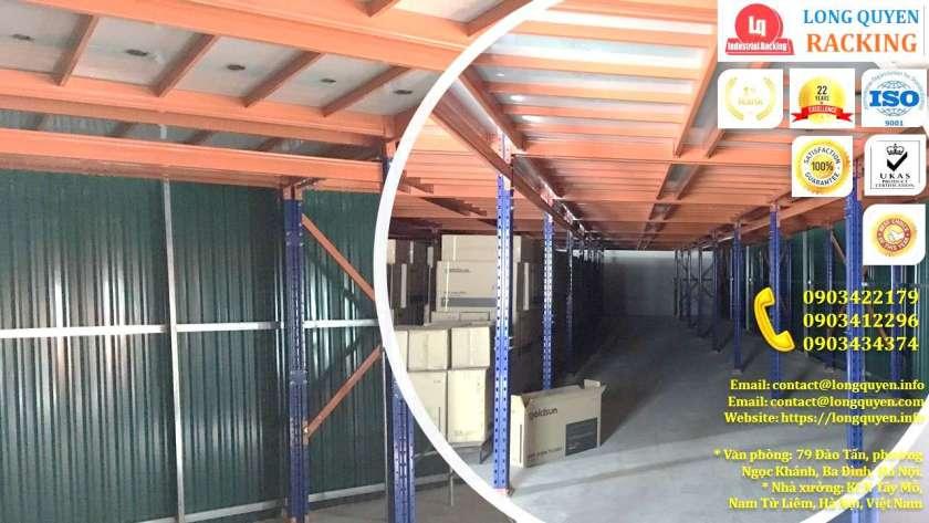 Kệ sàn tầng lửng lắp đặt tại kho hàng công ty Goldsun (10)