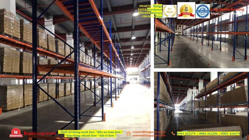 Kệ selective kệ sắt pallet lắp đặt tại kho hàng công ty An Phát (3)