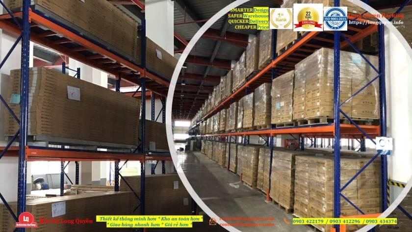 Kệ selective kệ sắt pallet lắp đặt tại kho hàng công ty An Phát (7)