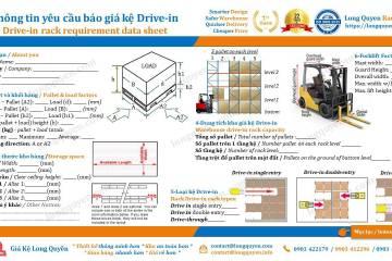 Dự toán thiết kế lắp đặt kệ kho hàng công nghiệp Drive-In