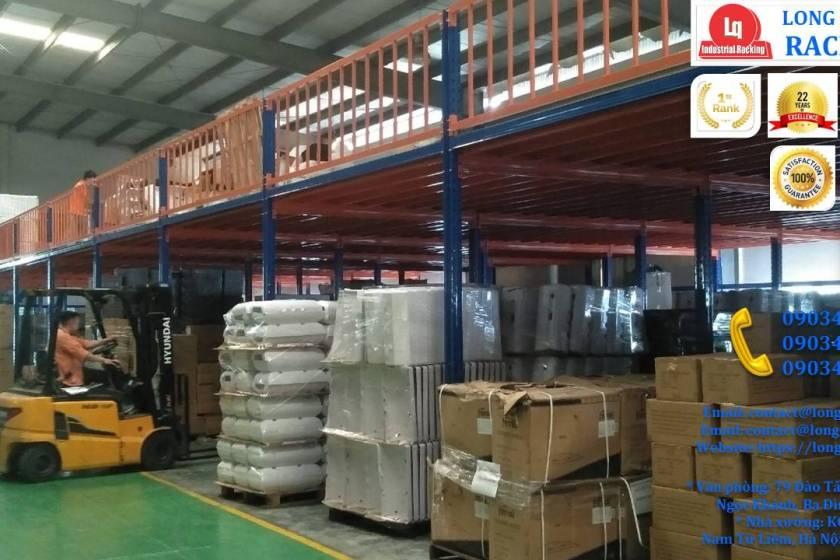 Tầng lửng gác xép sàn mezzanine công nghiệp công ty Ferroli (6)