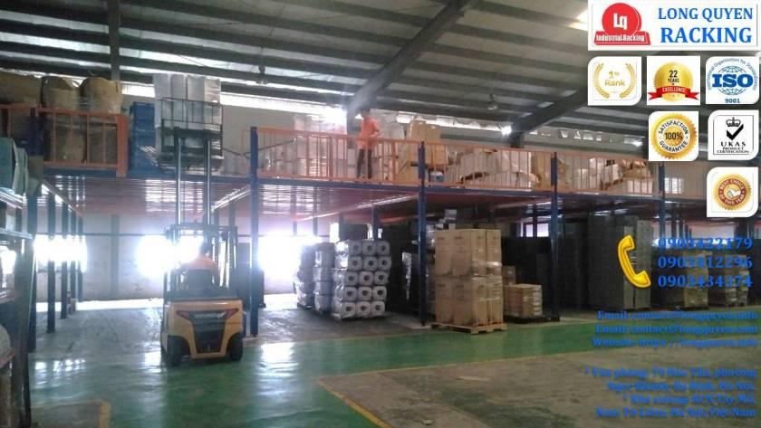 Tầng lửng gác xép sàn mezzanine công nghiệp công ty Ferroli (7)
