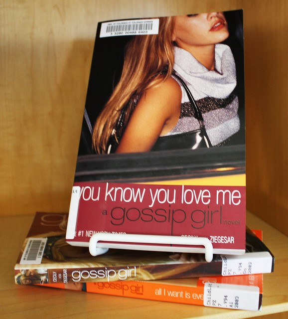 "Photograph of the ""Gossip Girl"" books."