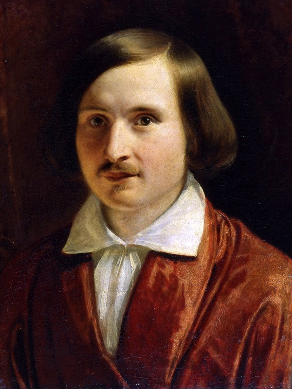 Portrait of Nikolai Gogol by Fyodor Moller (Public domain via Wikimedia Commons)