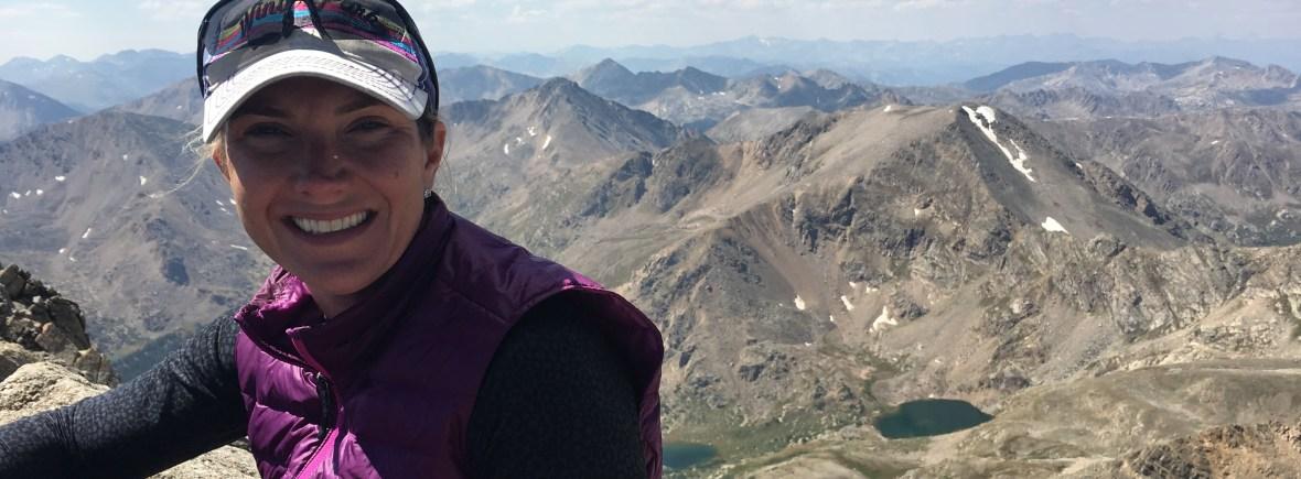 Francine top of Mount Massive