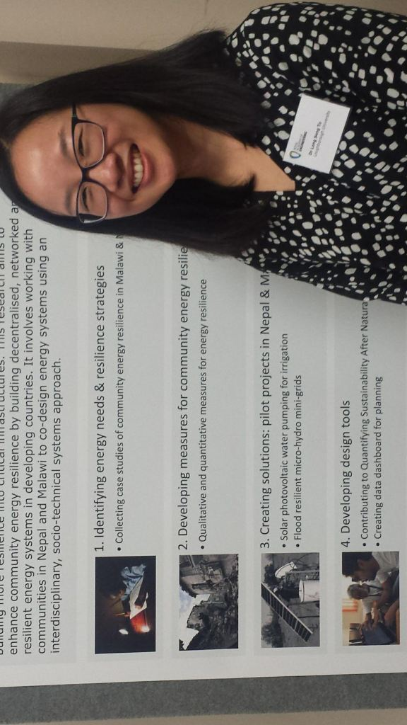 Dr Long Seng To standing in front of her poster at the Royal Academy of Engineering Research Forum.