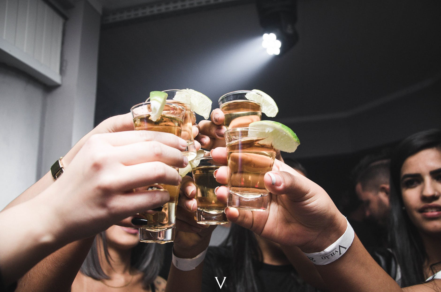 photo of people doing cheers