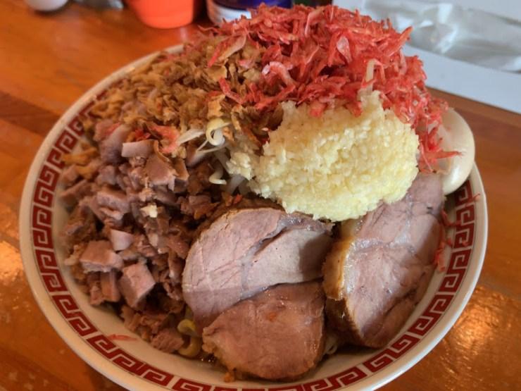 青森のラーメンくめちゃんのアブラ麺