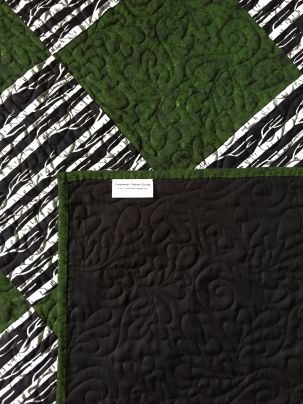 the quilting looks great on the solid black back!