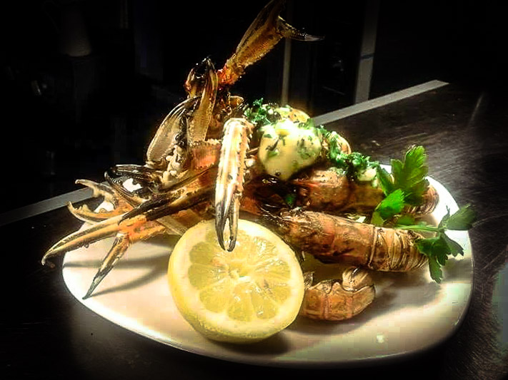 Chargrilled Langoustines at Longstone House Hotel Restaurant